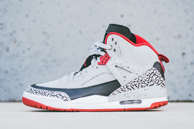 AIR JORDAN SPIZIKE (WOLF GREY/ GYM RED)